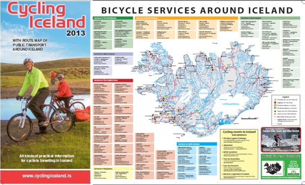 Cycling Iceland map 2013 – Iceland Tourist Map