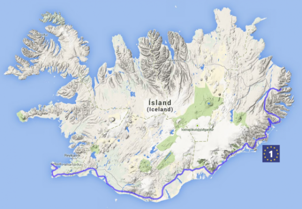 Iceland becomes part of the EuroVelo route